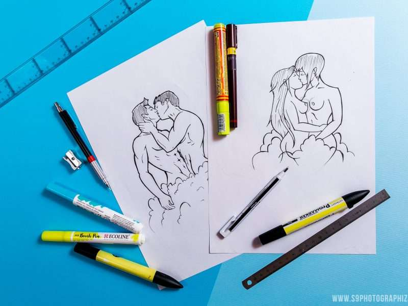 croquis dessin illustration création de personnage le privilège bar à lille s9photographizm