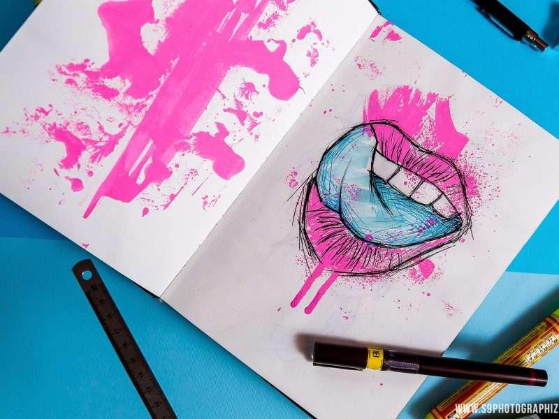 lips pink gay lille graffiti peinture