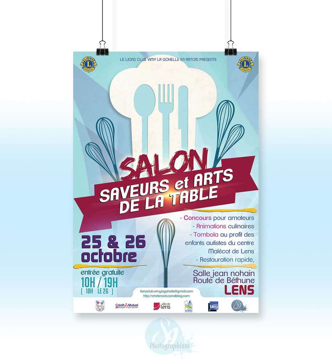 Affiche salon art de la table lens s9 photographizm - Salon art de la table ...