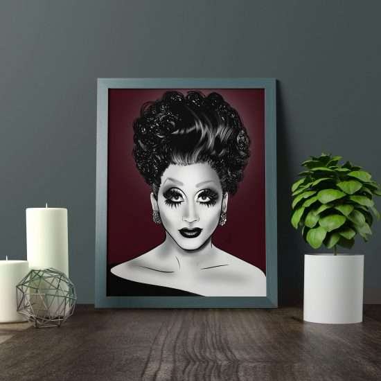 bianca del rio rupaul drag race s9photographizm digital painting illustration graphiste lille