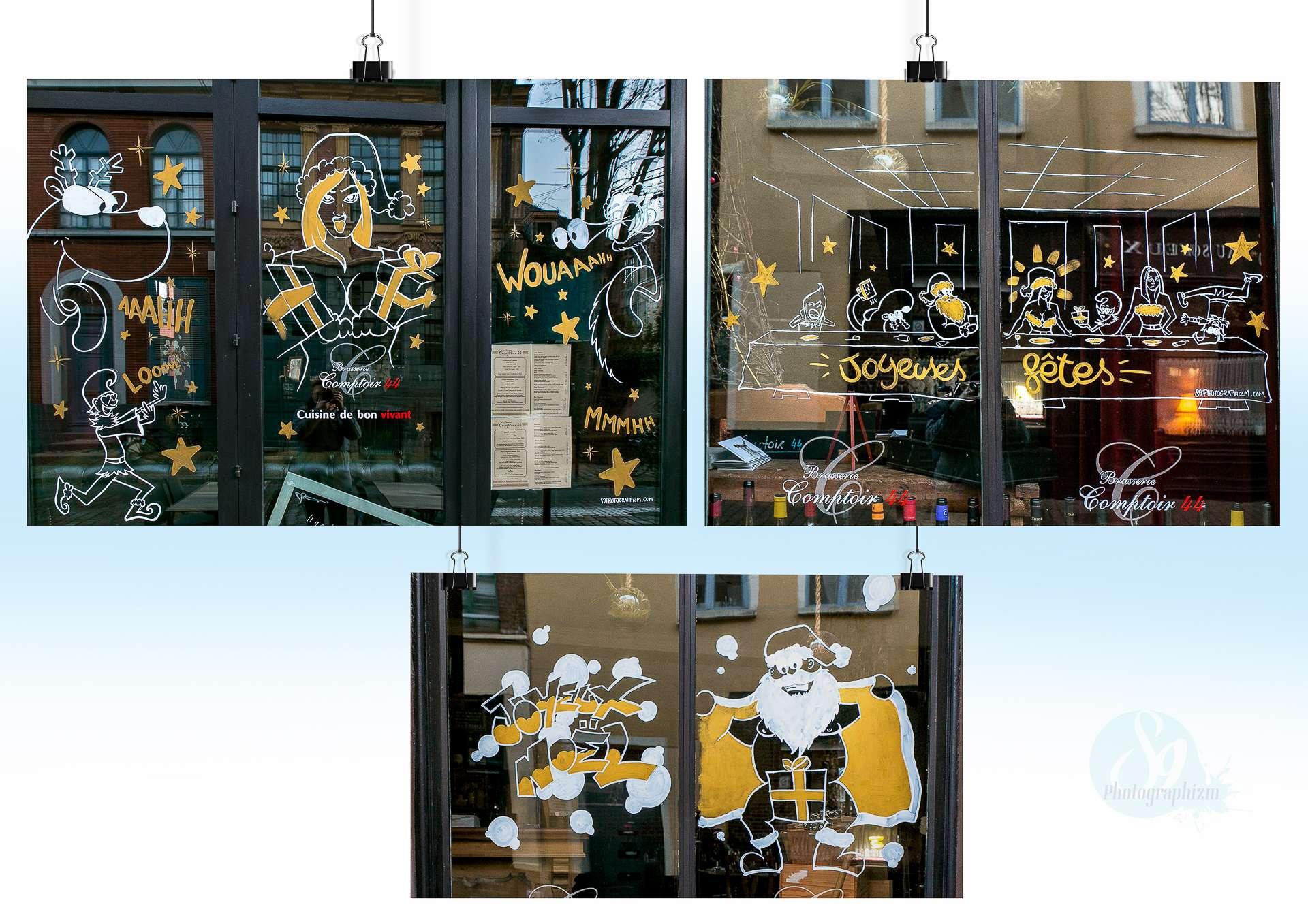 vitrine noel restaurant COMPTOIR 44 rue de gand lille