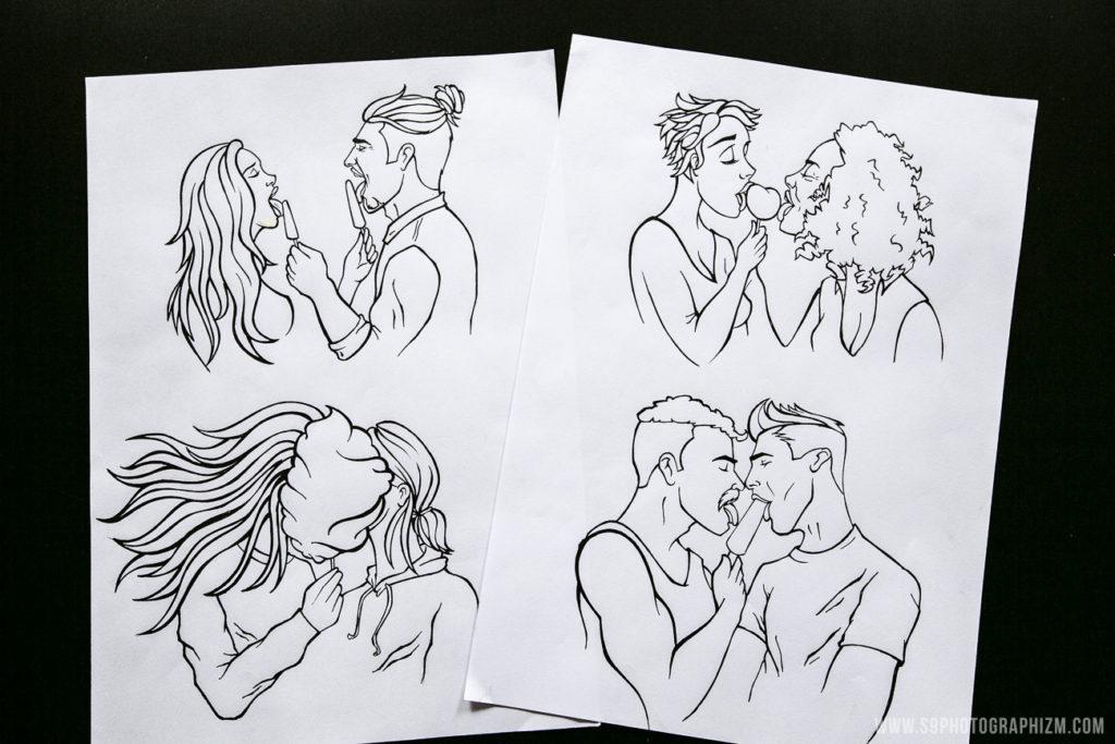 facade gaypride lille 2018 privilege bar lille croquis dessin décoration couple