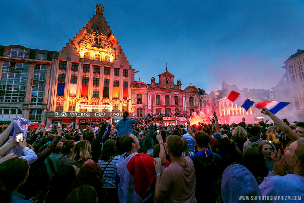 demi finale de la coupe du monde 2018 grand place de lille france photo photographe evenementiel sportif