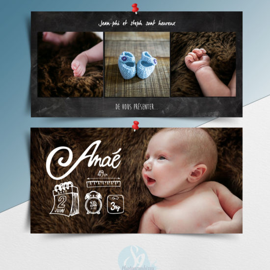 faire-part de naissance lille graphiste photo illustration bébé maternité grossesse