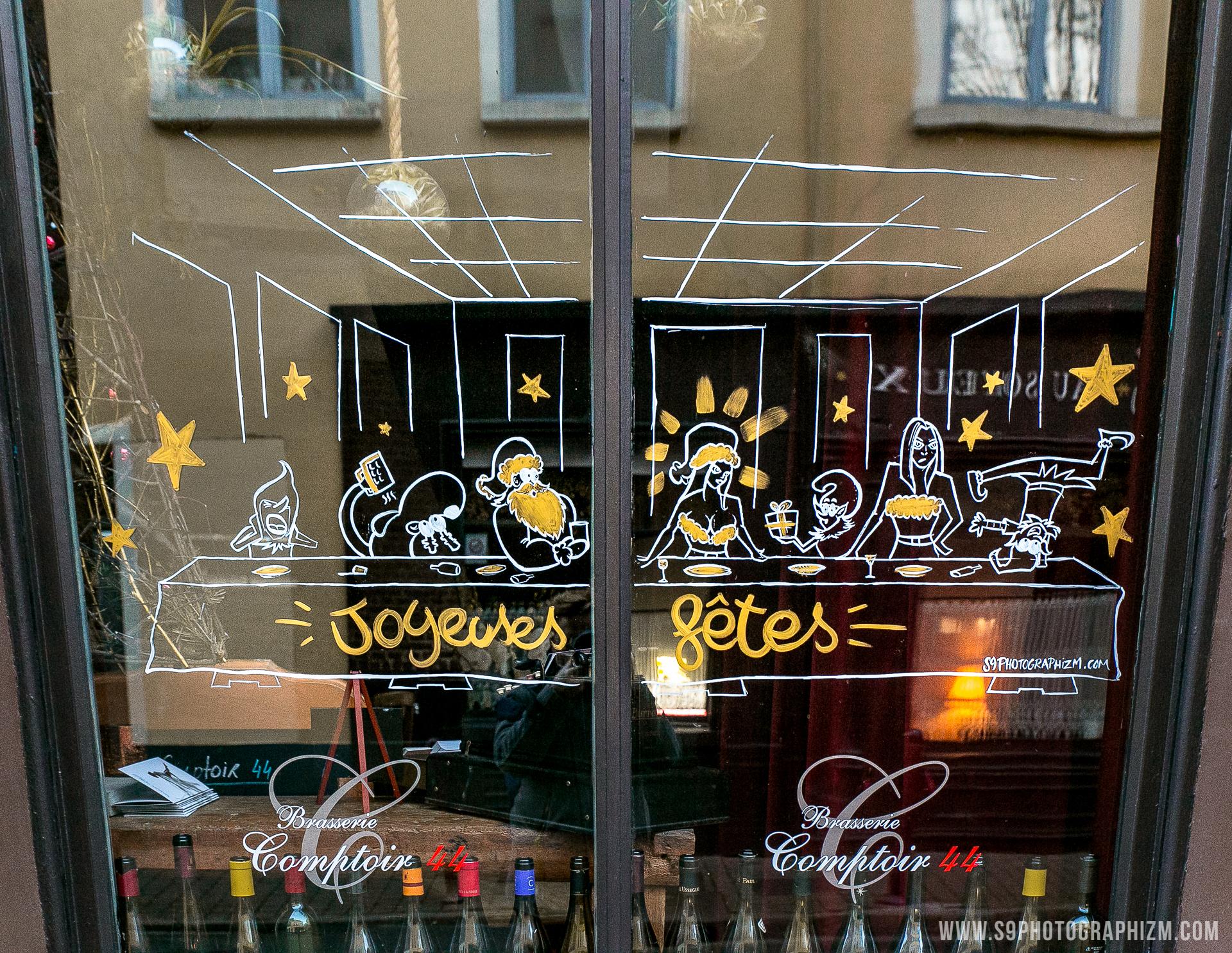 Image Vitrine Noel.Vitrine Noel Restaurant Rue De Gand Lille Le Comptoir 44 3