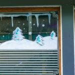 peinture vitrine lille, décoration noël, décoration saisonnière, vitrine noel, vitrine noel peinture, decoration originale, magasin, artisan, restaurants, hauts de france, peintre
